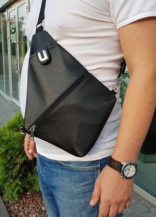 Мужская сумка через плечо cross body, сумка кобура,сумка для путешествий