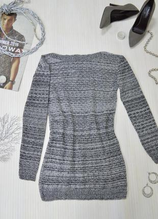 Красивый теплый вязаный свитер кофта