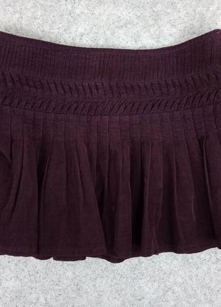 Юбка вельветовая фиолетовая dorothy perkins 14 euro 42