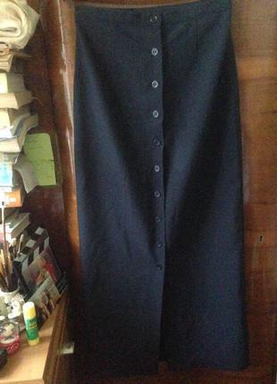 Юбка темно-синено цвета в пол benneton