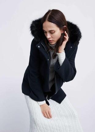 Шерстяное пальто - zara оригинал -распродажная цена!