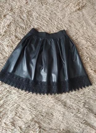 Кожанная юбка