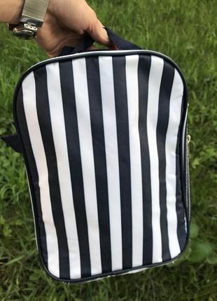 Стильный полосатый термо рюкзак.