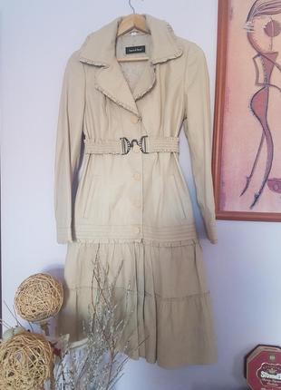 Оригинальный кожаный плащ-куртка 2в1