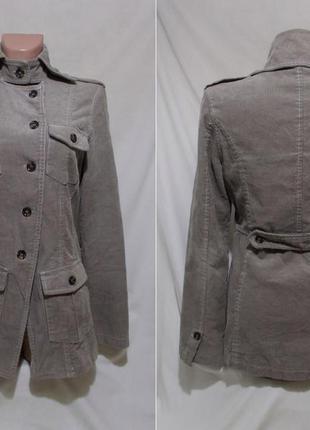 Куртка дизайнерская вельветовая светло-серая *yaya* нидерланды 44-48р
