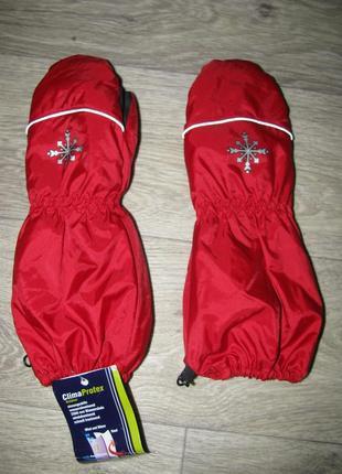 Рукавицы краги 8-9 лет перчатки варежки лыжные детские - clima protex -рост 128-134 см