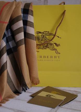 Шарф палантин burberry полный комплект