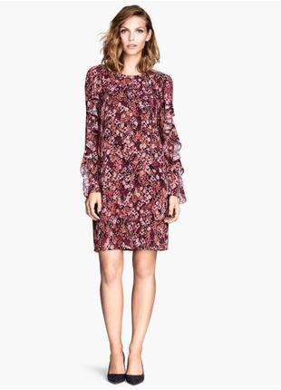 Очень стильное женственное платье с рюшами h&m