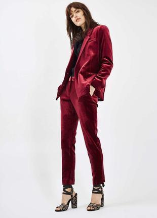 Пиджак винный бархатный велюровый марсала бордовый zara удлиненный