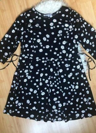 Платье в ромашки, большой размер