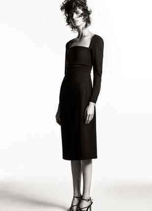 Zara платье-футляр с драпировкой , м