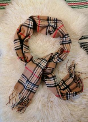 Кашемировый шарф в клетку в стиле burberry