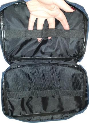 Косметичка, дорожный несессер, сумка, рюкзак, синяя