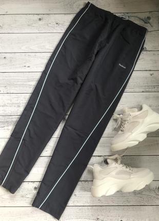 Reebok штаны брюки спортивные серые