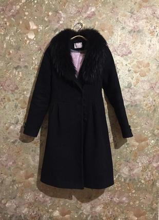 Зимнее классическое кашемировое пальто