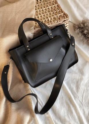 Сумка на длинной широкой ручке cross-body сумочка трендовая и стильная кроссбоди