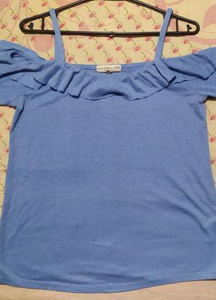 Женская футболка открытые плечи