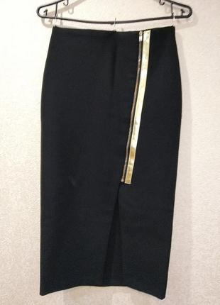 Шикарная стрейчевая юбка миди