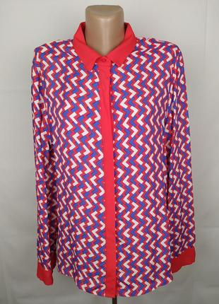 Блуза новая модная натуральная в орнамент marks&spencer uk 14/42/l