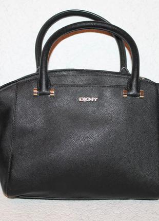 Vip кожаная сумка от dkny 100% натуральная кожа саффиано