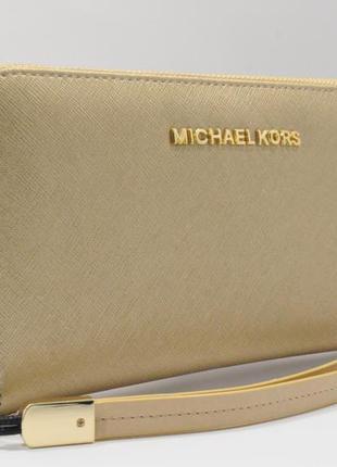 ce20d9e3a24e Кошелек женский кожаный на молнии michael kors 60019-d золотистый, расцветки