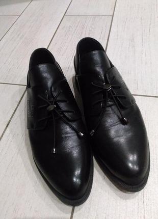Туфли женские кожаные!