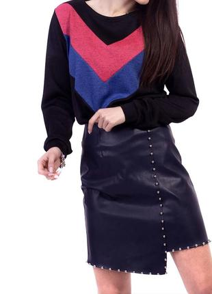 Шикарная стильная юбка миди  из эко-кожи новая