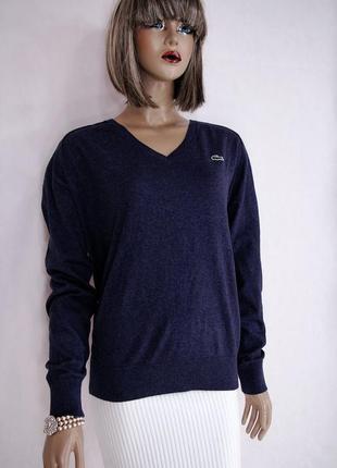 Lacoste нлвый кашемировый джемпер пуловер свитер шерстяной оверсайз классический