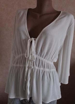 Пляжная блуза,летняя блуза..очень красивая,белоснежная,воздушная