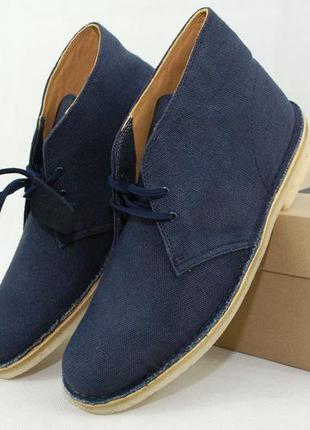 Clarks desert boots fabric, мужские ботинки дезерты оригинал сша, весенние