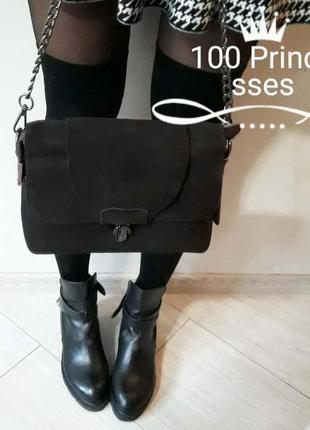 Женская натуральная замшевая сумка
