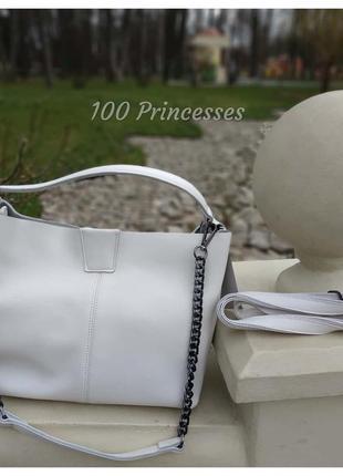 Шикарная женская натуральная кожаная сумка