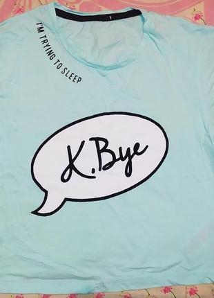 Короткая футболка топ с принтом
