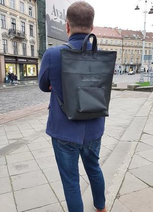 Стильный рюкзак,  рюкзак в уличном стиле, рюкзак для ноута, кожаный рюкзак