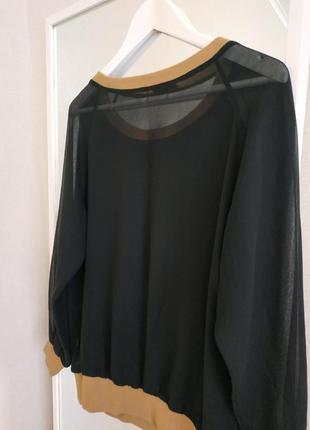 Черный свитшот с вышивкой бренд4 фото