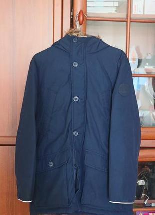 Gap пуховик фирменний зима.с капюшоном.для мальчика.темно-синий