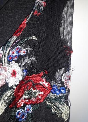 Блуза с вышивкой турция р.52 -542 фото