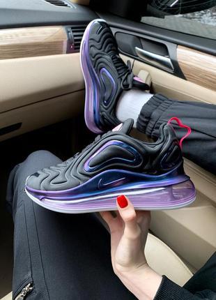 Nike air max 720 se black шикарные женские кроссовки найк чёрные
