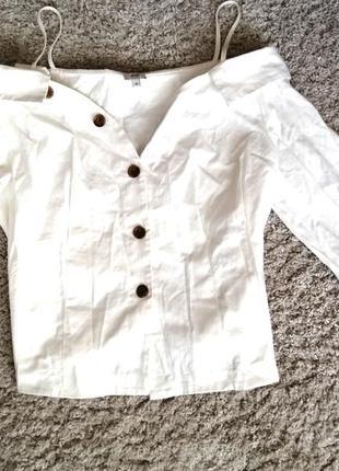 Рубашка с приспущенными плечиками