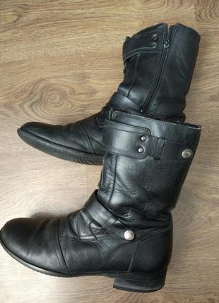 Ботинки кожаные сапоги
