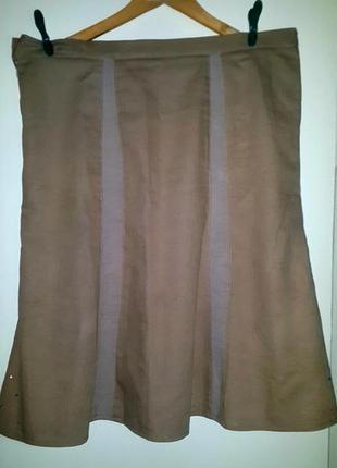 Стильная плотная юбка