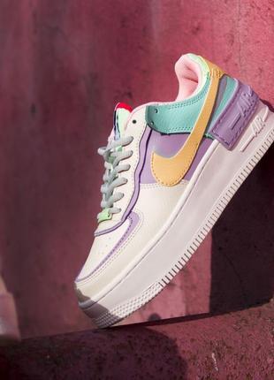 Nike air force shadow pale ivor 1 low шикарные женские кроссовки найк