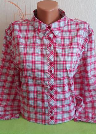 Стильная трекинговая рубашка mckinley dry plus/polygiene/sun protection
