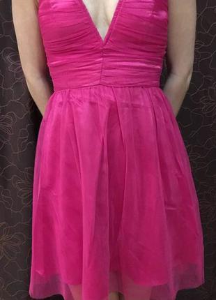 Праздничное малиновое платье h&m