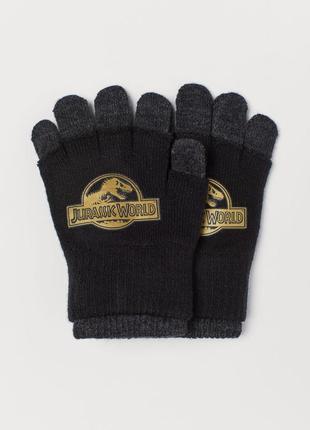 Перчатки hm англия 2 пары 134-170 см 8-14 лет для мальчика юноши