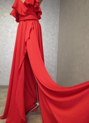 Шовкове вечірнє плаття