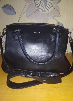 Кожаная женская сумка matt&nat