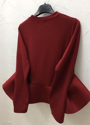 Кофта с баской блуза