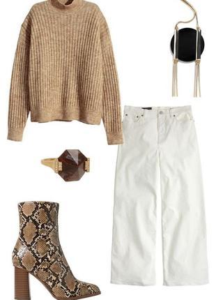 Шикарный мохеровый свитер с воротом оверсайз h&m