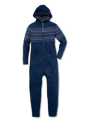 Теплый комбинезон-пижама tchibo, германия - размер s-m, на невысокий/средний рост